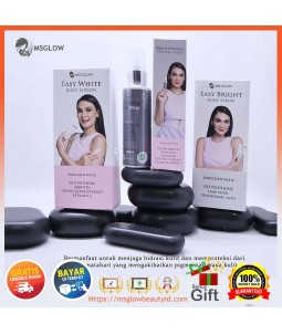 Paket body whitening Msglow Original|Lotion & serum Pemutih Badan