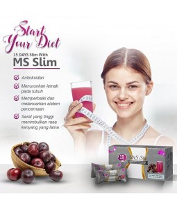 MS Black MS Slim Msglow Original|Minuman Diet alami